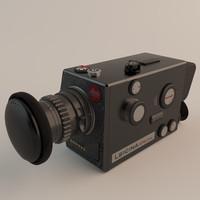 3d leitz leicina super-8 camera model