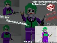 3d model joker lego