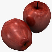 3d model red delicious apple