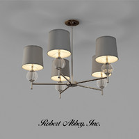 robert abbey latitude chandelier 3d model