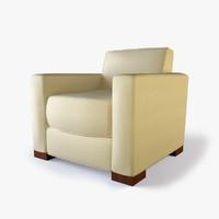 designer lounge 3d model
