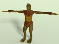 swamp monster 3d model