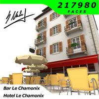 3d house hotel le chamonix model
