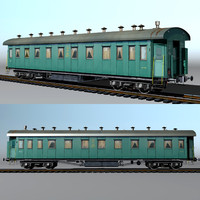 3d passenger vagon type 20 model