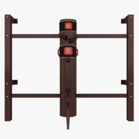 wooden dummy kung fu 3d model