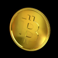 golden bitcoin 3d max