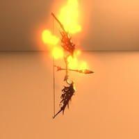 fantasy dragon bow 3d ma