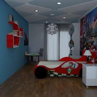 3d model boy room