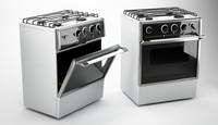 3d c4d gas stove