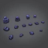 3d rocks set
