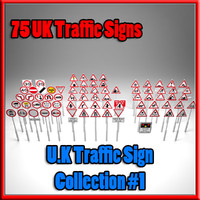3d uk traffic sign 1 model