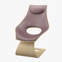 3d model chair tadao ando