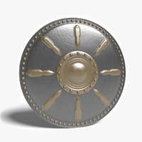 gladiator shield 3d 3ds