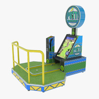 3d putt arcade golf machine model