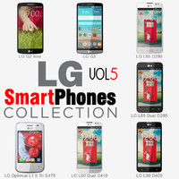 lg smartphones v5 phones 3d model