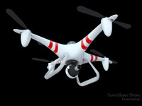 3d surveillance drone model
