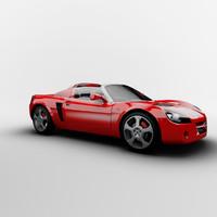speedster cabrio cabriolet 3d model