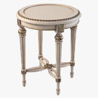 3d classic table savio firmino model