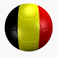 3d max soccer ball belgium flag