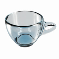 glass cup 3d 3ds