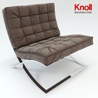 barcelona chair knoll 3d model
