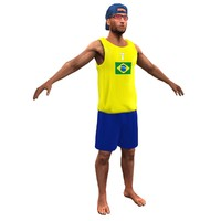 ready volleyball player 3d max
