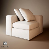 3d model sofa montreal natural