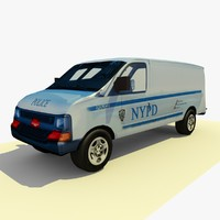 Low Poly NYPD Police Van