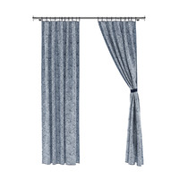 3d model of patterned curtains