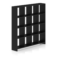 3d black wood standing shelves