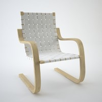 3d model chair alvar aalto