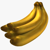 3d cartoon banana model