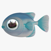 cartoon loran fish 3d model