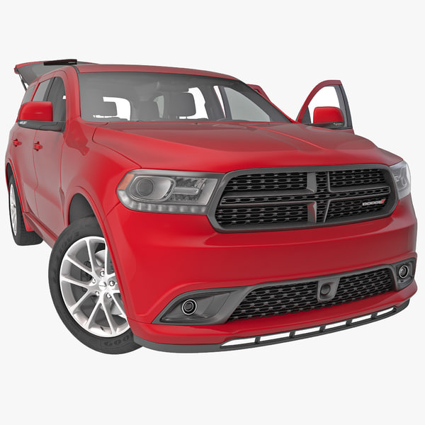Dodge Durango 2014 Rigged utility vehicle fullsize full-size auto automobile transport transportation sport vray