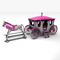 fairytale carriage bed 3d model
