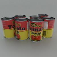 3dsmax tin tomato soup
