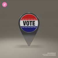free obj model vote magnet