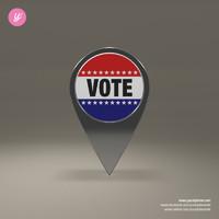free obj model vote magnet
