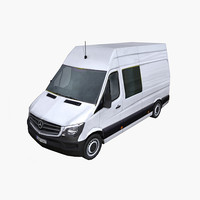 photorealistic mercedes sprinter 2014 3ds