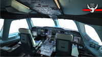 3ds max airbus flight deck