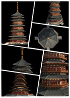 3ds max chinese classical temple