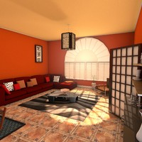 3d model designs living zen room