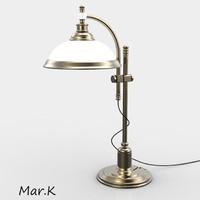 brass table lamp klara 3d obj
