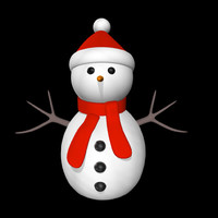 3d model christmas frosty man