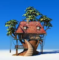 cartoon tree house