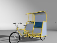 3d model of pedicab cab