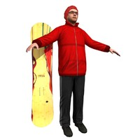 snowboarder player games 3d max