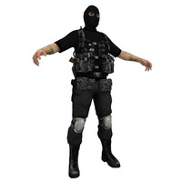 3d paramilitary soldier model