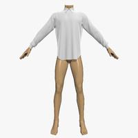 3d shirt mannequin