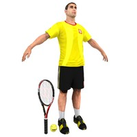 3d model tennis player